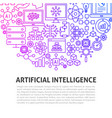 artificial intelligence line concept vector image