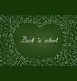 back to school chalkboard wallpaper education vector image vector image