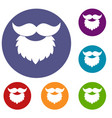 beard and mustache icons set vector image