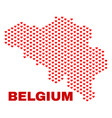 belgium map - mosaic of heart hearts vector image vector image