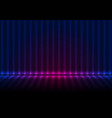 blue ultraviolet neon glowing striped wall and vector image vector image