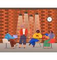 brainstorming teamwork office workers business vector image vector image
