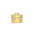Briefcase computer symbol vector image vector image