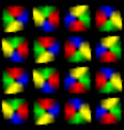 bright glare on a black background vector image
