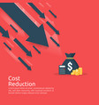 business finance crisis concept stack pile coins vector image vector image