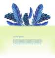 Card template Watercolor feathers vector image vector image
