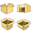 Cardboard hand-drawn set vector image