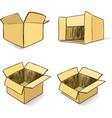 Cardboard hand-drawn set vector image vector image
