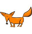 cartoon of red fox vector image vector image