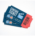cinema movie tickets set with elements vector image