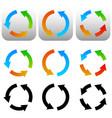 circular circle arrow icons symbols colorful and vector image vector image