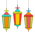 Colorful Arabic Lamps for Ramadan Kareem vector image