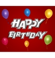 Colorful Happy Birthday Greeting Card vector image vector image