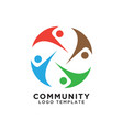 community organization logo design template vector image