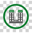 Company Building Flat Rounded Icon vector image vector image