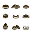 Cookies black set vector image