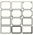 decorative simple frames set 13 vector image vector image