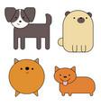 dogs simple art geometric vector image