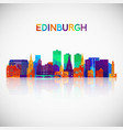 edinburgh skyline silhouette in colorful vector image vector image