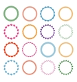 Embroidery stitches circle frames set vector image vector image