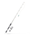 fishing rod vector image vector image