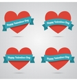 Flat heart applique background vector image