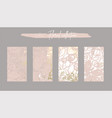 floral collection set trendy chic social media vector image