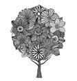 Flower Tree Sketch vector image