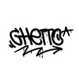 ghetto graffiti tag vector image
