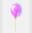 glossy realistic 3d balloon isolated on vector image vector image