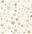 gold snowflakes christmas pattern golden polka vector image vector image