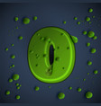 green slime font vector image vector image