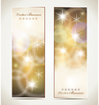 Greeting cards with stars and copy space vector image vector image