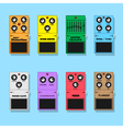 guitar pedals vector image vector image