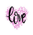 hand drawn love badge poster banner icon vector image vector image