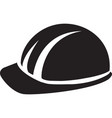 hard hat builder man black symbol vector image
