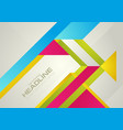 hi-tech colorful geometric minimal abstract vector image vector image