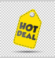hot deal yellow hang tag vector image