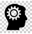 intellect gear icon vector image