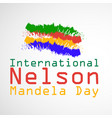 international nelson madela day vector image