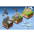 Isometric Infographic Petroleum Energy Harvesting vector image vector image