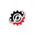 letter d gear logo design template vector image vector image