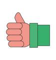 like thumb up symbol vector image