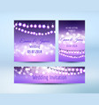 lilac lights bokeh and garlands cards vector image