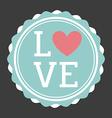 love seal design vector image vector image