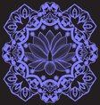 mandala with Indian Lotus beautiful background vector image vector image