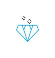 market of precious stones thin line stroke vector image