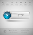 Modern Glossy Button vector image vector image