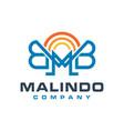 monogram logo design letter mb vector image vector image