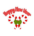 pair of christmas canes happy new year vector image vector image